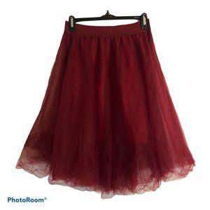 RUE 21 Burgundy Tulle Skirt Sz. Med.
